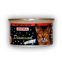Amora Diamond Katze Rind+Leber, (marha és máj ízű) konzerv macskáknak, 200 g