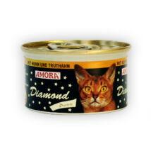 Amora Diamond Katze Huhn+Truthahn, (csirke + pulyka)  konzerv macskáknak, 200 g
