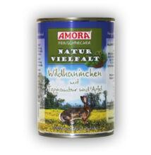 Amora Feinschmecker Hund Naturvielfalt Wildkaninchen, (vadnyúl hússal) konzerv kutyáknak, 400 g