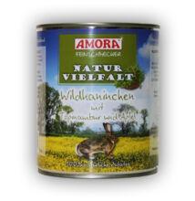 Amora Feinschmecker Hund Naturvielfalt Wildkaninchen,(vadnyúl hússal)  konzerv kutyáknak, 800 g