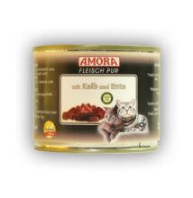 Amora Fleisch Pur Katze Kalb+Ente, konzerv macskáknak, 200 g borjú+ kacsahússal