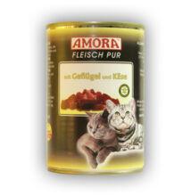 Amora Fleisch Pur Katze Geflügel+Käse, konzerv macskáknak, 400 g