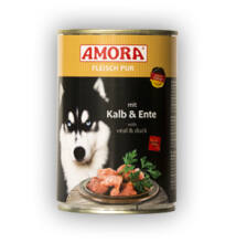Amora Fleisch Pur Hund Kalb+Ente, konzerv kutyáknak, 400 g