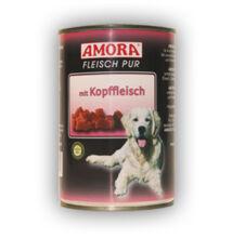Amora Fleisch Pur Hund Kopffleisch, (Marhahús+ fejhús)  konzerv kutyáknak, 400 g