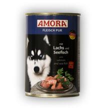 Amora Fleisch Pur Hund Lachs+Seefisch, konzerv kutyáknak, 400 g