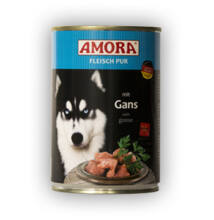 Amora Fleisch Pur Hund Gans, 400 g konzerv kutyáknak, Libahússal