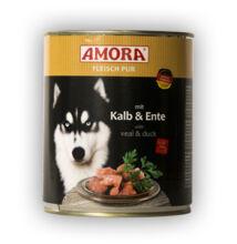Amora Fleisch Pur Hund Kalb+Ente, konzerv kutyáknak, 800 g