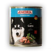 Amora Fleisch Pur Hund Gans, 800 g konzerv  kutyáknak, libahússal