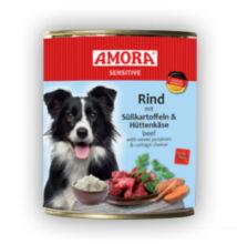 Amora Sensitive Hund Rind/Süßkartoffel+Hüttenkäse, konzerv kutyáknak, 400 g
