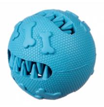 Barry King jutifalat adagoló extra erős gumijáték labda, kék 7,6 cm