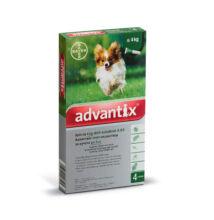 Advantix spot-on kutyáknak, 4 kg alatt,  4 x 0,4 ml