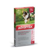 Advantix spot-on kutyáknak, 10-25 kg-ig, 4 x 1 tubus