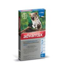 Advantix spot-on kutyáknak, 25 kg felett 4 x 4 ml kullancsok, bolhák és lepkeszúnyogok ellen