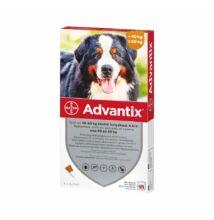 Advantix spot on kutyáknak 40-60 kg-ig, 4 x 6 ml kullancsok, bolhák és lepkeszúnyogok ellen