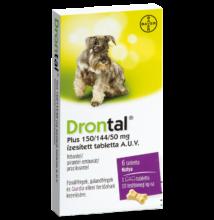 Drontal Plus tabletta (1/10 kg)  kutyák részére 6 db tabletta/doboz