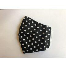 Maszk textil,  mintás, mosható ff pöttyös
