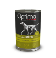 Visán Optimanova Dog Adult Rabbit & Potato (nyúl és burgonya) konzerv 400 g