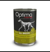 Visán Optimanova Dog Adult Rabbit & Potato (nyúl és burgonya) konzerv 400 g