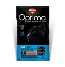 Visán Optimanova Cat Light Chicken & Rice 2 kg