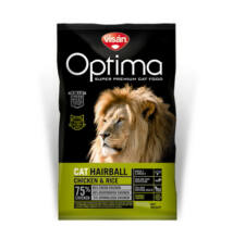 Visán Optimanova Cat Hairball Chicken & Rice 2 kg