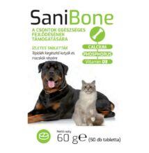 Sani BONE 50 db Csonterősítő tabletta kutyáknak és macskáknak 2 DB
