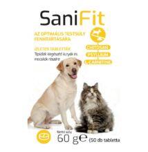 Sani FIT tabletta Az optimális testsúly fenntartására kutyáknak és macskáknak 2 x 50 DB