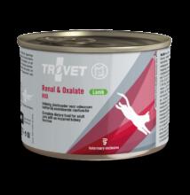 TROVET RENAL & OXALATE DIET/RID LAMB bárányhúsos konzerv macskáknak 200 g a veseműködés támogatására