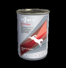 TROVET RENAL&OXALATE DIET/RID konzerv felnőtt kutyáknak,  6 x 400g a veseműködés támogatására