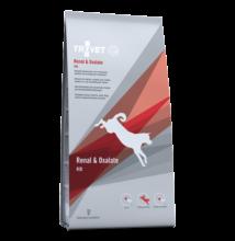 TROVET RENAL & OXALATE DIET/RID száraztáp felnőtt kutyáknak 3kg a veseműködés támogatására 2 DB!