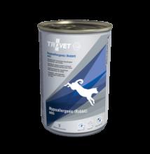 TROVET Hypoallergenic RABBIT&RICE Diet/RRD kutyáknak 400 g konzerv, hipoallergén nyúlhússal