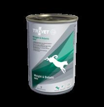 TROVET WEIGHT&DIABETIC./WRD DOG konzerv táp kutyáknak, 400g 6 db