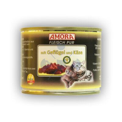 Amora Fleisch Pur Katze Geflügel+Käse, konzerv macskáknak, 200 g