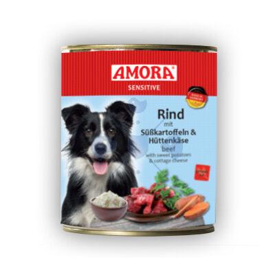 Amora Sensitive Hund Rind/Süßkartoffel+Hüttenkäse, konzerv kutyáknak, 800 g
