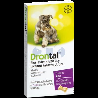 Drontal Plus tabletta (10 kg)  kutyák részére 6 db tabletta/doboz