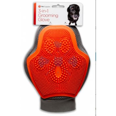 Pet Supplies 3-in-1 Grooming Glove Dog – mosó, masszírozó és szőrfelszedő kesztyű