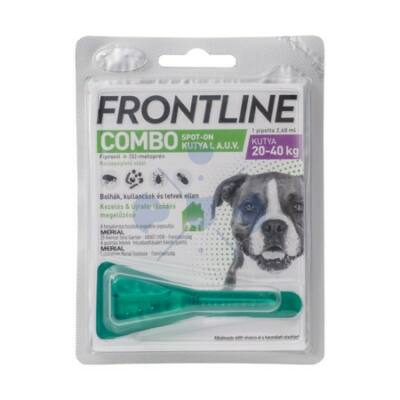 Frontline Combo Spot-On Kutyáknak 1 pipetta,  20-40 ttkg-ig, L -es  méret
