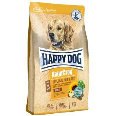 Happy Dog NaturCroq Geflügel Pur & Reis (Baromfi és Rizs) 4kg