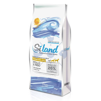 SILAND Daily Maintenance Pollo e Riso Adult Medium/Large 3 kg Csirkehússal és rizzsel