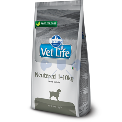 Vet Life Natural Diet Dog Neutered 1-10kg 2kg