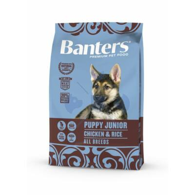 VISÁN BANTERS DOG PUPPY JUNIOR CHICKEN & RICE 3 kg