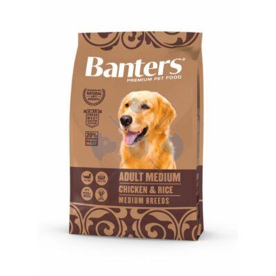 VISÁN BANTERS DOG ADULT MEDIUM CHICKEN & RICE 3 kg