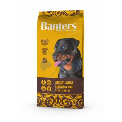 VISÁN BANTERS DOG ADULT LARGE CHICKEN & RICE 15 kg