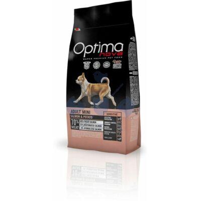 Visán Optimanova Dog Adult Mini Salmon & Potato (lazac és burgonya) 800 g