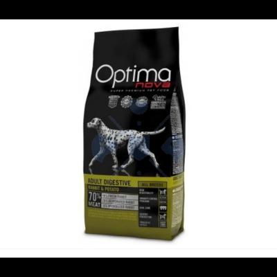 Visán Optimanova Dog Adult Digestive Rabbit & Potato 800 g száraztáp