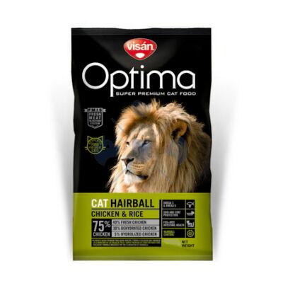 Visán Optimanova Cat Hairball Chicken & Rice 2 kg