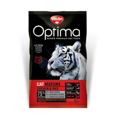 Visán Optimanova Cat Mature Chicken & Rice 400 g