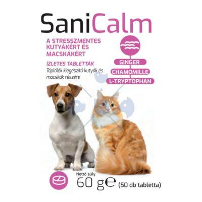 Sani CALM 50 db Stresszoldó nyugtató tabl. kutyáknak és macskáknak 2 DB