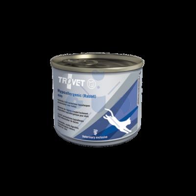 TROVET Hypoallergenic RABBIT&RICE /RRD macskáknak 12 x 200 g. konzerv