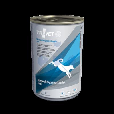 TROVET Hypoallergenic  LAMB&RICE Diet/LRD Kutyáknak 400 g konzerv 12 db