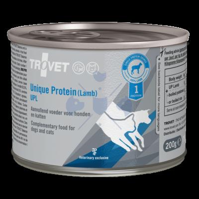 TROVET UNIQUE PROTEIN  LAMB/ UPL  200 g 12 db Hipoallergén (monoprotein) konzerv kutyáknak és macskáknak